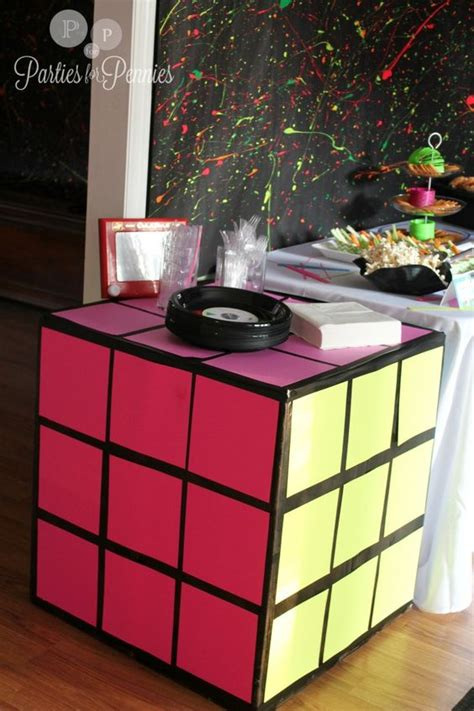 80s decor poster boards rubik s cube and 80s theme on pinterest