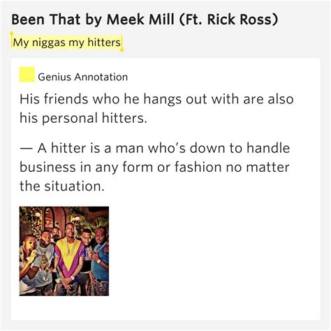 my lyrics meaning my niggas my hitters been that lyrics meaning