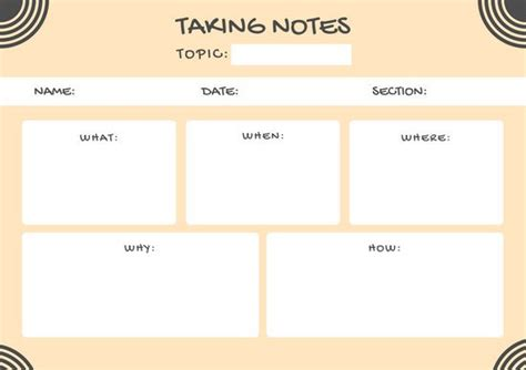 canva graphic organizer peach note taking graphic organizer templates by canva