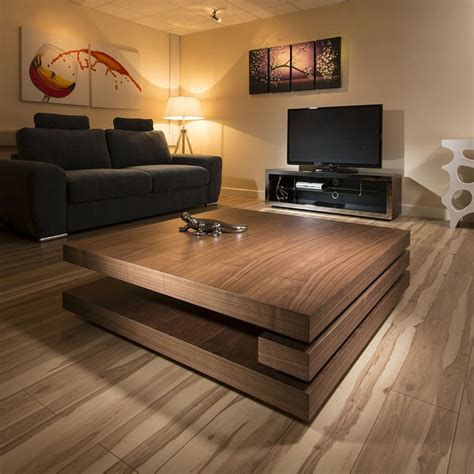 large square modern coffee table large modern designer square low walnut 1 2mt coffee