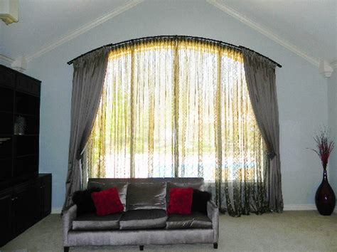 window treatments curtain rods arched window curtain rod arch window curtains to choose