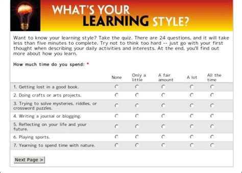 printable learning styles questionnaire learning styles inventory printable quotes