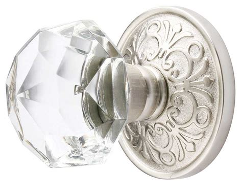 Kitchen Cabinet Pulls With Backplates by Emtek Diamond Crystal Door Knob Shop Glass Door Knobs At
