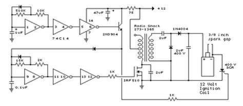skema rangkaian pengapian motor cdi schematic diagram