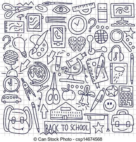 doodle academy drawings clip vector of school education doodles school