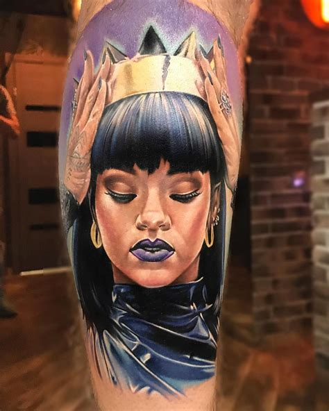 rihanna butt tattoo rihanna by anjelika kartasheva kick tattoos
