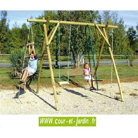 Balancoire Vis A Vis by Portique Enfant Portique En Bois Jeux Plein Air