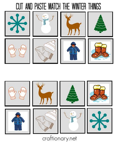 5 best images of free printable winter cut and paste free printable cut and paste activities