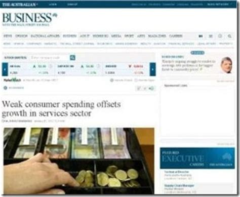 the australian business section business news de finance