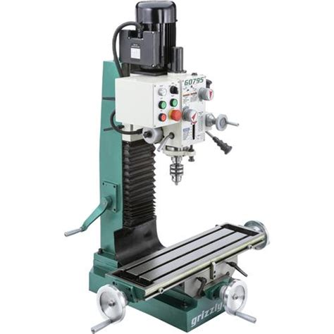bench mill drill machine g0795 grizzly heavy duty benchtop mill drill