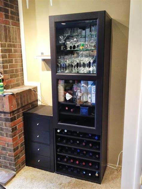 ikea bar hack how to combine ikea items to build your own wine rack