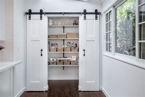 Barn Door In Kitchen Kitchen Remodeled Studio City With Barn Door Pantry Builders K C R