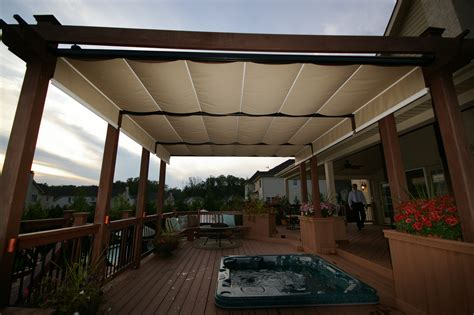 Wood Awnings For Decks by Outdoor Decks For Jacuzzis With Awning Awning Outdoor