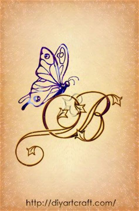 butterfly tattoo letter j 17 best images about mi letra b on pinterest initials