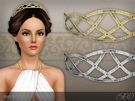 Set Tiara Cc forged metallic headband for the sims 3 by beo cc wants
