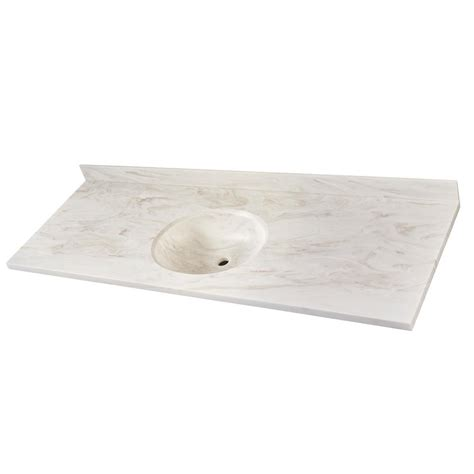 corian vanity corian 49 in w single basin vanity top in sandstorm with