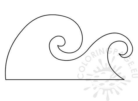 ocean wave template coloring page