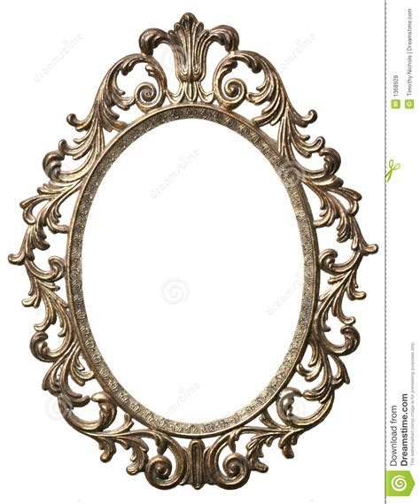 Decorative Picture Frames by Decorative Oval Picture Frame Stock Photo Image 1368928