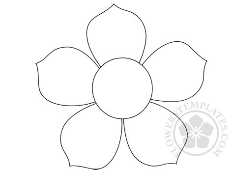 flower template 5 petals 5 petal flower pattern flowers templates