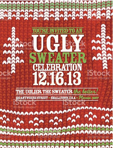 knit pattern ugly sweater holiday party celebration