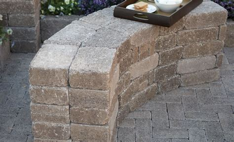 stacked stone bench patio pavers bench google search paver landscape ideas