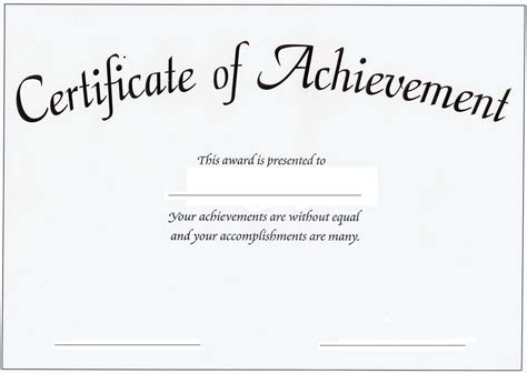 certificate of achievement template for achievements certificates reading achievement certificate