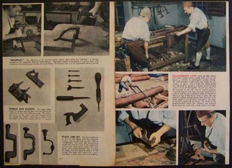 colonial woodworking colonial williamsburg woodworking tools 1945 pictorial
