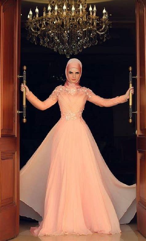 desain wedding dress muslimah latest fancy party wear formal hijabs abaya collection