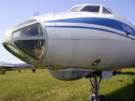 """airliner Is the """"glass nose"""" Tu 134 design for easier conversion to military use? Aviation"""