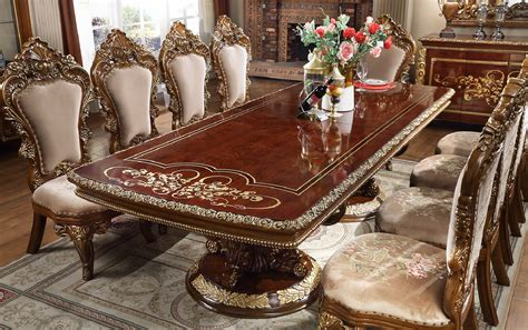 hd  homey design long dining table victorian style