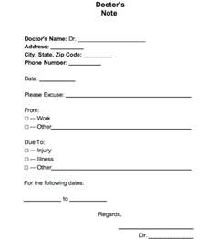 printable fake doctors notes free health symptoms and