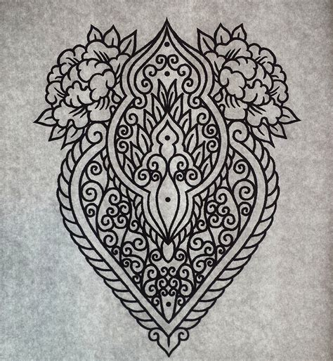 mehndi ornament tattoo design by genotas deviantart com on