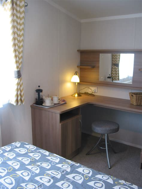 vanity area in bedroom superior plus caerfai bay caravan tent park st davids