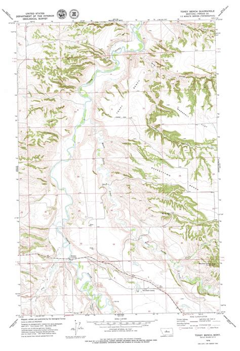 bench map toney bench topographic map mt usgs topo quad 47109c6