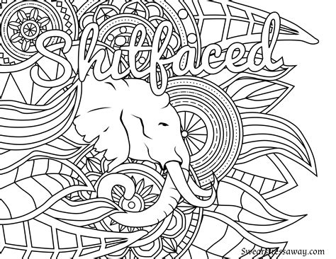 printable coloring pages swear words free printable coloring page shitfaced swear word