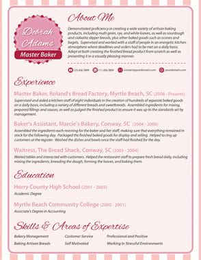 Baker Assistant Sle Resume by Without Picture Resume Baker