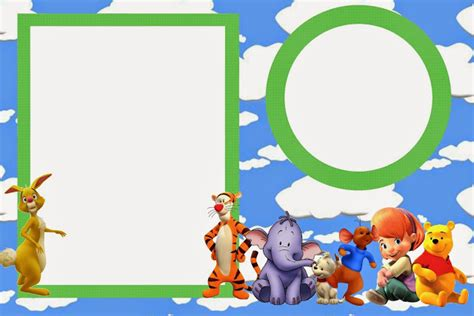 Winnie The Pooh Templates by Winnie The Pooh Template Invitation Card All Free