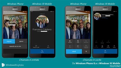 windows mobile italiano differenze tra windows phone 8 1 e windows 10 mobile