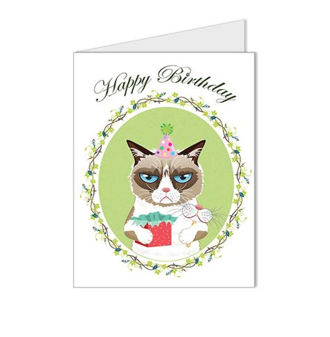 Cat Birthday Card Printable 6 Best Images Of Grumpy Cat Birthday Card Printable