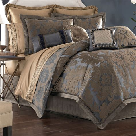 damask comforters sapphire damask comforter bedding by croscill