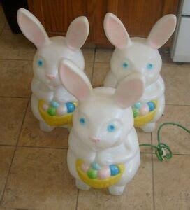 blow mould figure 3 vintage easter bunny rabbit mold empire light up yard figure ebay