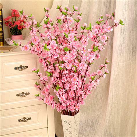6pcs peach blossom simulation flowers artificial flowers 1pcs 65cm artificial flowers peach blossom simulation