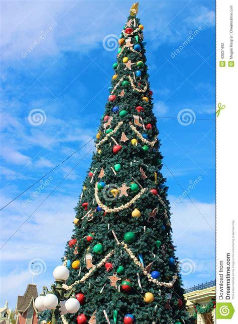 magic kingdom christmas tree stock photo image 43037492