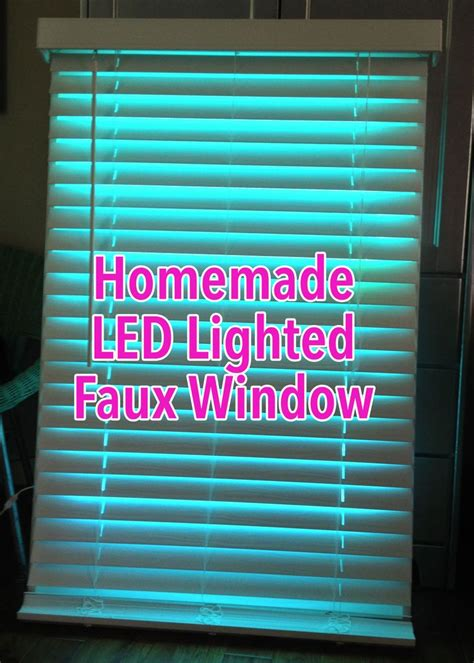 fake window light faux led window