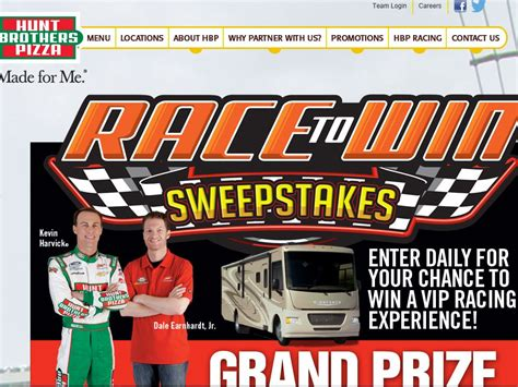 Hunt Brothers Pizza Sweepstakes - hunt brothers pizza race to win sweepstakes sweepstakes pinterest pizzas