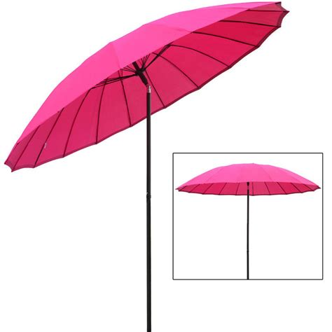 pink patio umbrella azuma 2 5m tilting parasol sun shade canopy umbrella