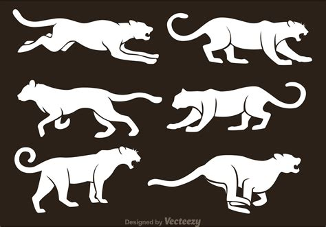 white silhouette white tiger silhouette vectors download free vector art