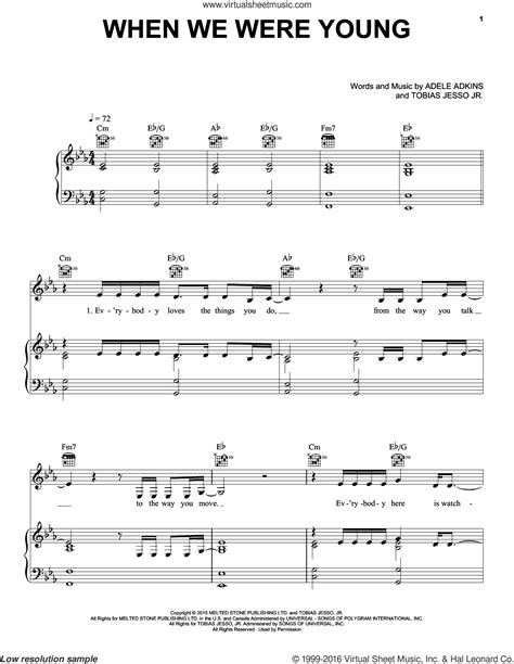 free download music mp3 adele when we were young adele when we were young sheet music for voice piano or