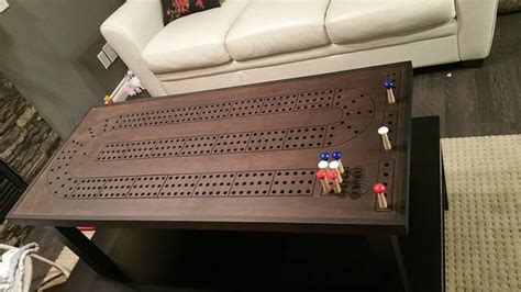 cribbage board coffee table 1000 ideas about cribbage board on chess sets