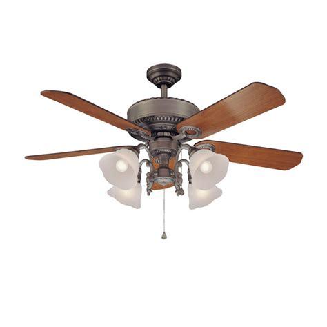 Shop Harbor Breeze 52 Quot Edenton Aged Pewter Ceiling Fan At Harbor Ceiling Fan Models